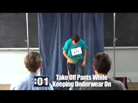 How to take off pants while keeping underwear on - YouTube