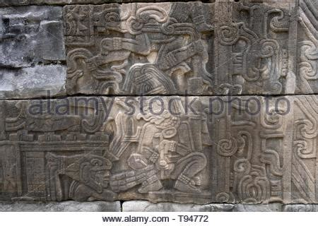 colorful stone carved reliefs in south wing inside Temple