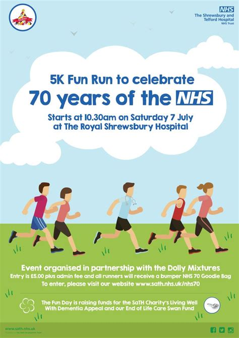 Sign up to our 5K Fun Run to celebrate 70 years of the NHS