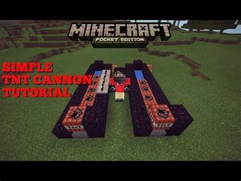 Minecraft Pe - How To Make A Simple TNT Cannon   Minecraft
