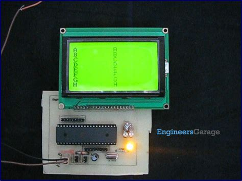 How to interface Graphics LCD with 8051 Microcontroller