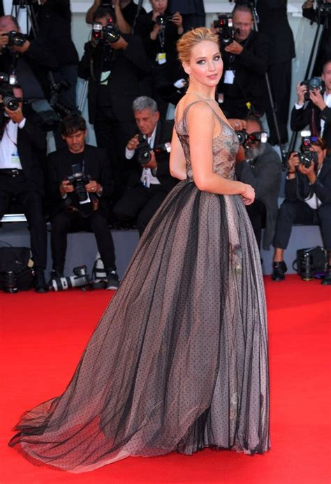 Jennifer Lawrence Slays in Polka Dot Gown at 'Mother