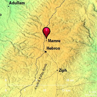 Bible Map: Valley of Hebron (Mamre)